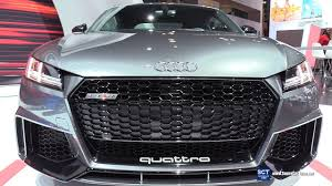 2018 audi grey. fine audi 2018 audi tt rs quattro  exterior and interior walkaround debut at 2017  new york auto show for audi grey