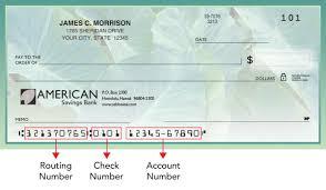 routing number american savings bank