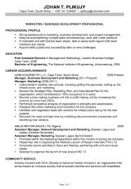 Sample Resume For New Business Graduates