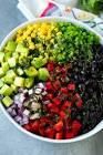 black bean  corn and red onion salad