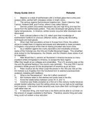 ceramics art history research paper study guide unit 4