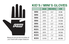 Size Chart Pow Gloves