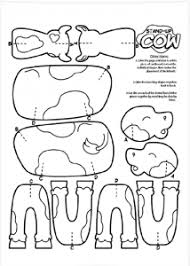 Small Picture free printable coloring sheets color and cut out stand up cow