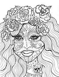 Hard Coloring Pictures Get This Day Of The Dead Pages For Adults