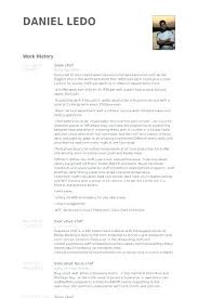 Chef Sample Resume Chef Resume Samples Examples Fabulous Great New Sample Resume For Sous Chef