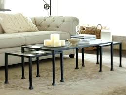 tanner coffee table tanner rectangular coffee table polished nickel finish tanner round