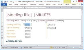 Microsoft Meeting Notes Template Professional Meeting Minutes Template Doc 1365