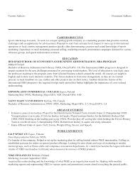 marketing cv objective