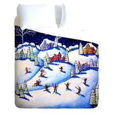 um image for renie britenbucher winter skiing fun duvet covercooling covers fun bright duvet covers quirky