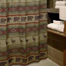 Shower Curtains Cabin Decor Bear Bathroom Decor Accessories For Lodge Or Cabin Cabin Place