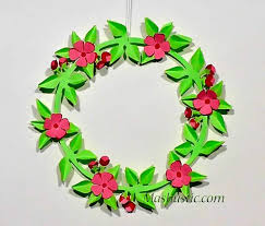 Christmas Paper Flower Wreath 31 Cool Ways To Introduce Handmade Paper Wreaths To Kids