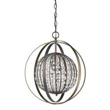 olivia 1 light indoor oil rubbed bronze pendant with crystal