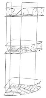 Chrome 3 Tier Corner Bathroom Shower Shelf Caddy Basket Tidy ...
