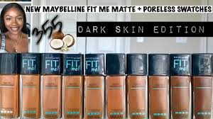 Maybelline Fit Me Matte And Poreless Swatches Extended Shades 355 Vs 360