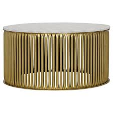 opher round brass white stone coffee table kathy kuo home indian