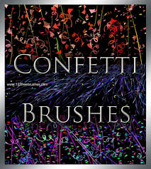 Confetti Brush Photoshop Confetti And Streamer Photoshop Free Brushes 123freebrushes