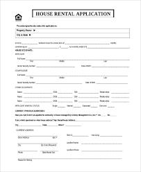 Free 11 Sample Rental Applications In Word Pdf
