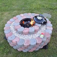 37 diy fire pit on concrete patio captivating paver block patio designs with diy round concrete fire pit mccmatricschool com