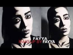 black n white face painting tutorial