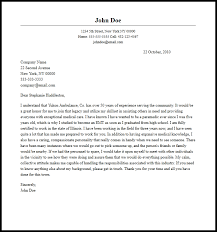 Paramedic Cover Letter Emt Resume No Experience Paramedic Jesse