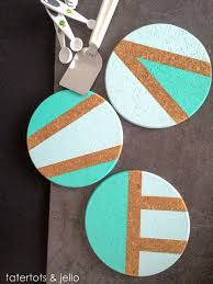 diy coasters easy color blocked coaster trivet diy best quick diy gifts and home