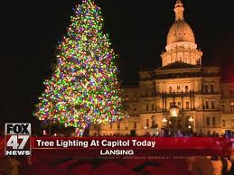 Lansing Christmas Tree Part - 15: Lansing Celebrates Tree Lighting At  Capitol - FOX 47