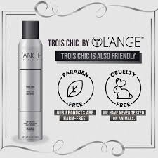 Tre Chic Hair Design Lange Hair Trois Chic Three Way Hairspray Hair Proteins Pro Vitamin B5 Uv Thermal Protection Paraben Free Professional Salon Hair Care