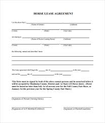Template Lease Sample Horse Lease Agreement 9 Free Documents In Pdf Word