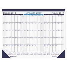 17 Month Calendar Recycled Two Color Monthly Desk Pad Calendar 22 X 17 2019