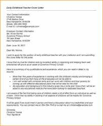 12 early childhood education cover letter sample basic job educational cover letters