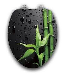 art of acryl elongated toilet seat w slow close chromed metal hinges wood piano black