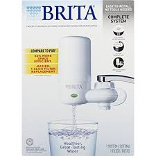 brita water filter replacement. Brita On Tap Faucet Water Filter System, Includes:1 System+2 Filters - Replacement
