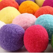 How To Make Fluffy Decoration Balls PINJEAS 100pclot Plush Ball felt Soft Balls Fluffy Pattern Easy 49
