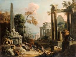 landscape with classical ruins and figures marco ricci and sebastiano ricci about