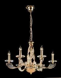 endon lighting 96426 rhapsody 6 light 24 carat gold plate crystal ceiling light