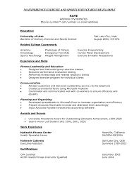 Science Resume Cover Letter Exercise Science Resume Example resume Pinterest Resume examples 29