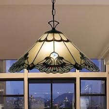 tiffany style lamp hanging ceiling swag pendant chandelier stained glass 20 inch