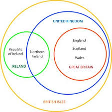 British Isles Venn Diagram Venn Like Diagram Mapping The Islands And Countries Of The