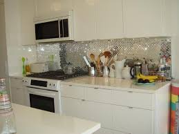 image of kitchen backsplash mirror style