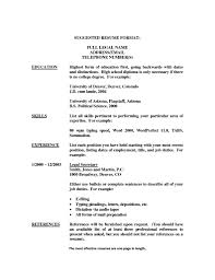 High School Education Resume Template Listing On Student Section Of