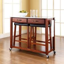 Concept Portable Kitchen Island With Stools Roselawnlutheran Decor Ideas