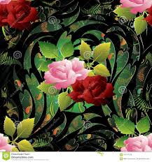 3d Roses Seamless Pattern. Vector ...