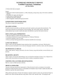 of resume sample for certified veterinary technician resume veterinary technician resume samples