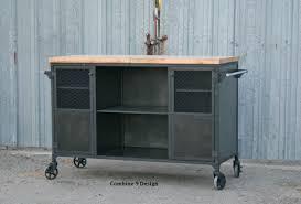 Industrial Kitchen Island Buy A Custom Made Vintage Industrial Bar Cart Kitchen Island