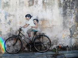 street art penang on famous wall art in penang with street art and welded iron wall caricatures of georgetown penang