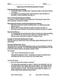 Explanatory Essay Format Informative Explanatory Essay Unit Structure Model Essays Prompts Rubrics