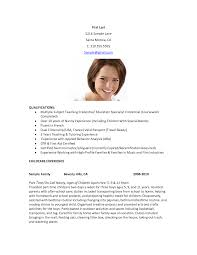 Sample Nanny Resume nanny resume summary qualification PartTimeNannyResumeExamples 84