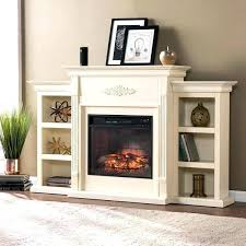 s southern enterprises electric fireplace tennyson with bookcase glazed pine finish