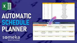 Automatic Schedule Planner Weekly Schedule Plan In Excel