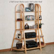 Oak Corner Shelving Kimber Natural Oak Corner and Ladder Shelves 35